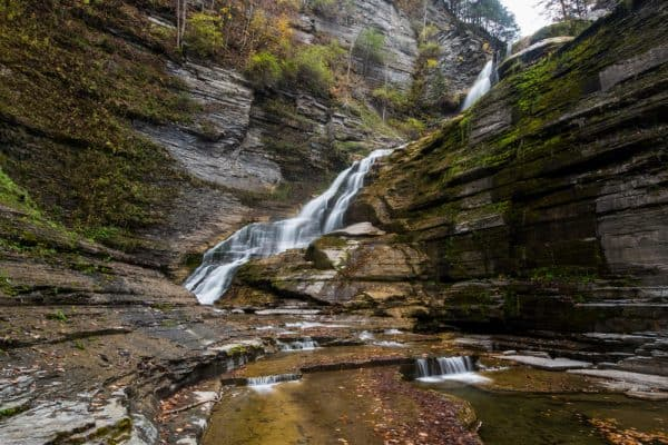 Lucifer Falls is a beautiful waterfall near Ithaca, NY