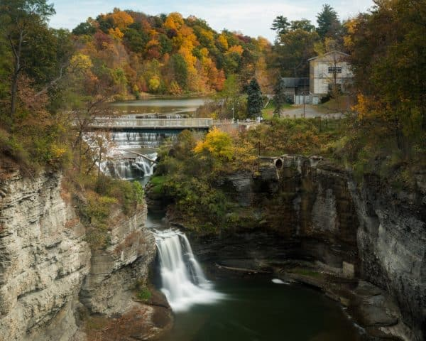 Triphammer Waterfall in Tompkins County, NY