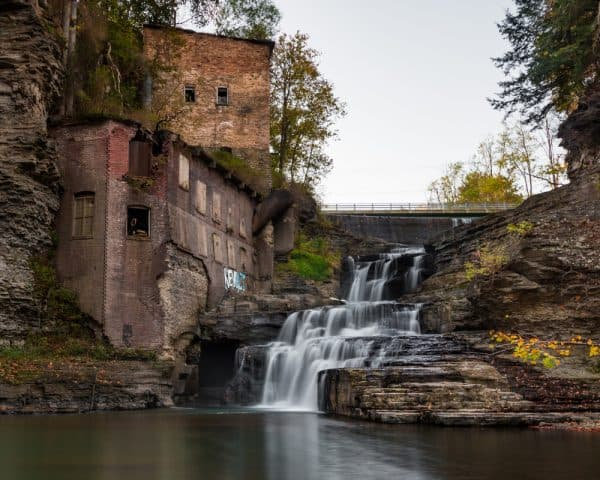 Well's Falls is one of the best hidden Finger Lakes waterfalls