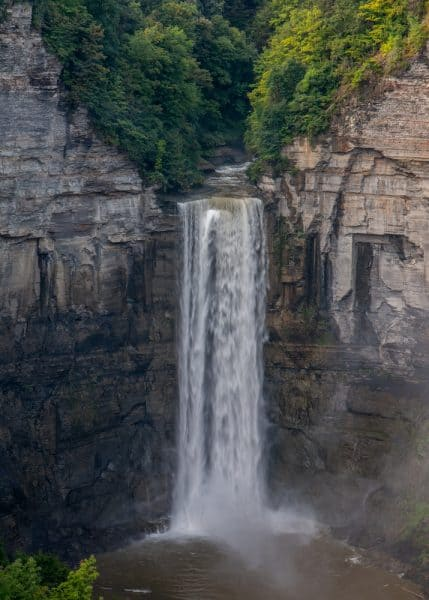 Viewing the main falls from the Taughannock Falls Overlook