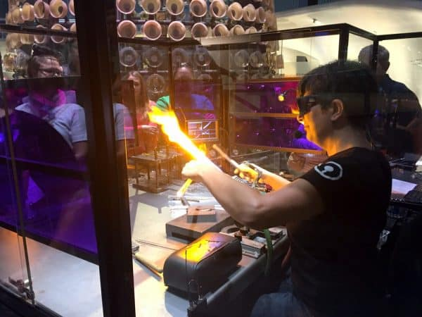 Glassmaking demonstrations at CMoG in Corning, New York