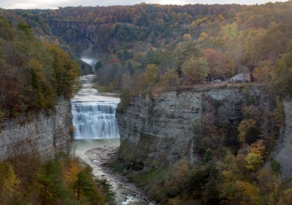 View from Inspiration Point at Letchworth State Park