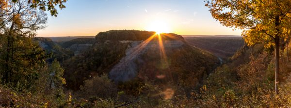 Sunrise in Letchworth State Park
