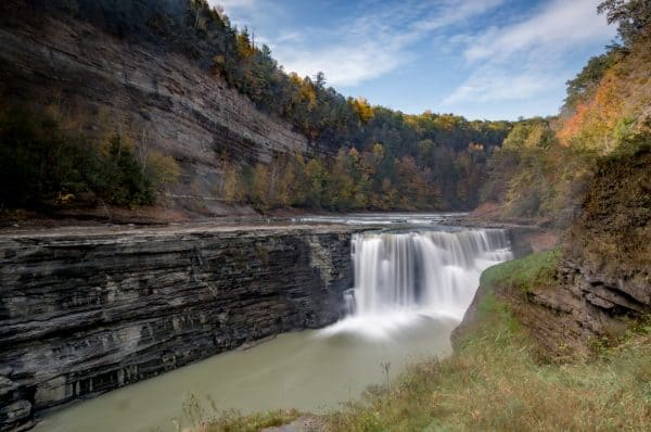 Lower Falls is one of the main Letchworth State Park waterfalls