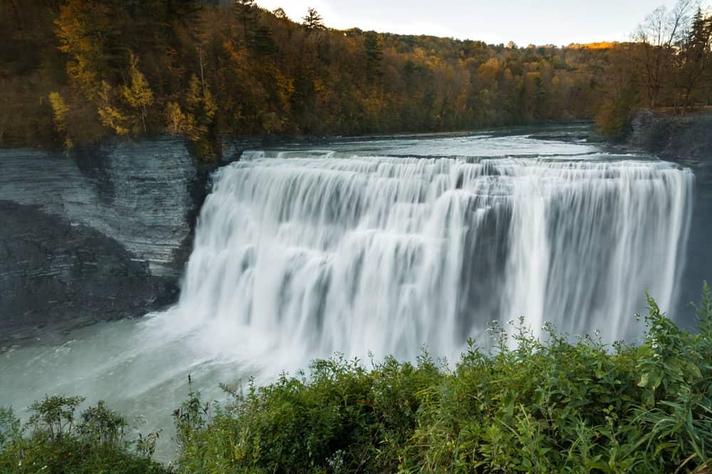The waterfalls of Letchworth State Park in New York