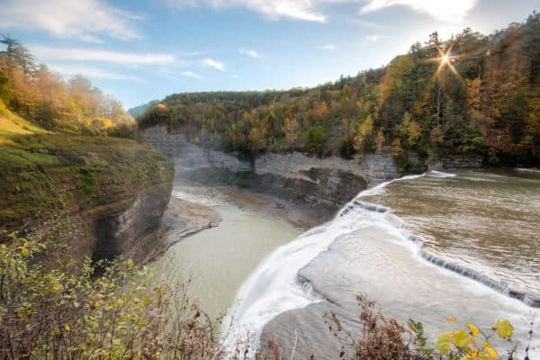 Middle Falls in Letchworth State Park in New York