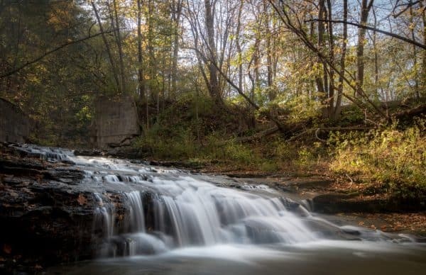 Hidden waterfalls in Letchworth State Park