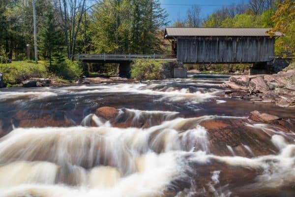 Salisbury Center Covered Bridge in the Adirondacks of New York
