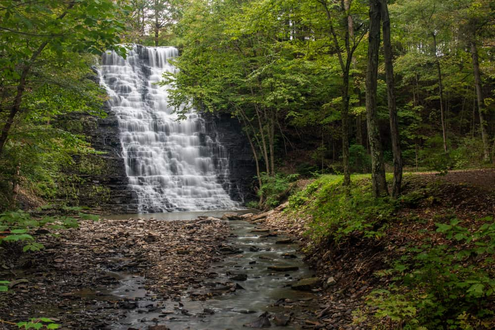 Waverly Glen Falls in Tioga County, New York