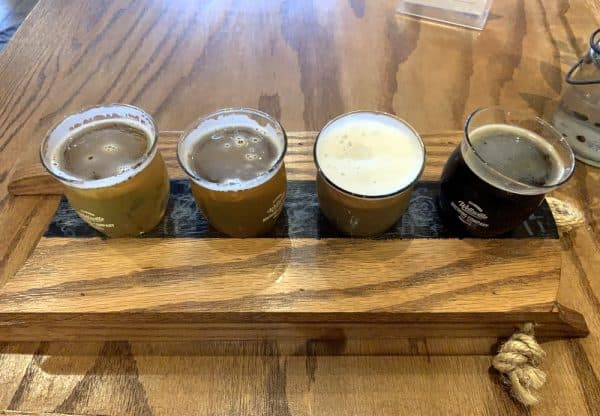Flights of Beer at Wellsville Brewing Company in Allegany County, NY