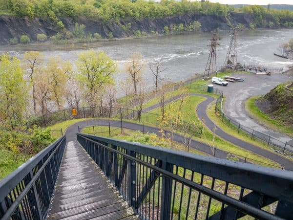 Staircase in Falls View Park in Cohoes New York