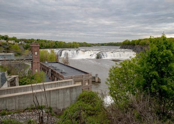 Cohoes Falls from Overlook Park in Albany County, NY