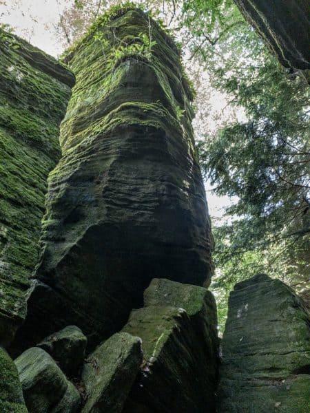 Unique rock formations at Panama Rocks near Johnstown NY