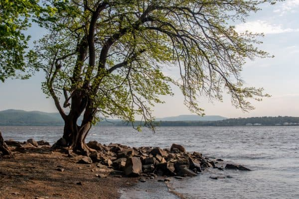 View of the Hudson River from Dennings Point in New York