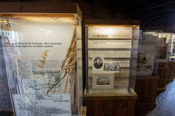 Signage at the Erie Canal Museum in Onondaga County, NY