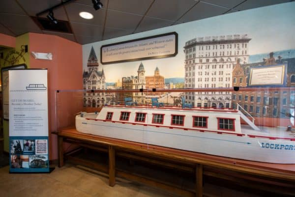Inside the Erie Canal Museum in Syracuse, New York