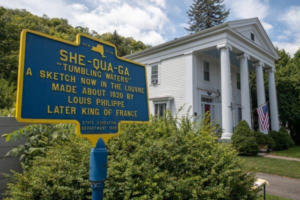 Shequaga Falls sign in Montour Falls NY