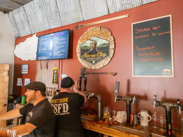 Inside Stump City Brewing in Fulton County, New York