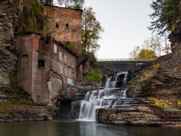 How to get to Wells Falls in Ithaca, New York