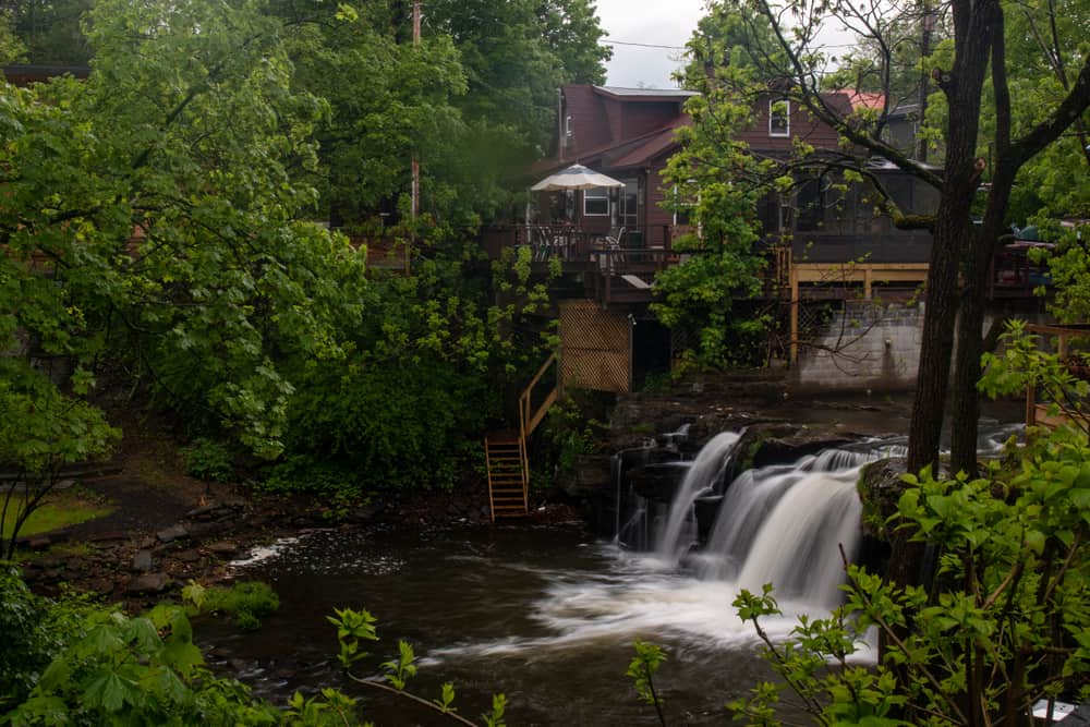Woodstock Waterfall Park in Woodstock, New York