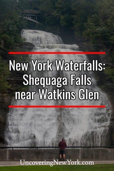 Visiting Shequaga Falls near Watkins Glen, New York