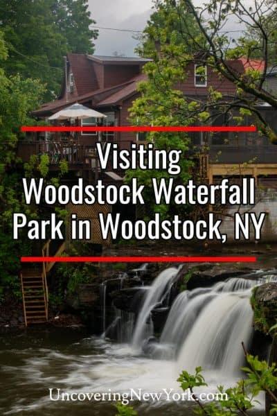 Visiting Woodstock Waterfall Park in Woodstock, New York
