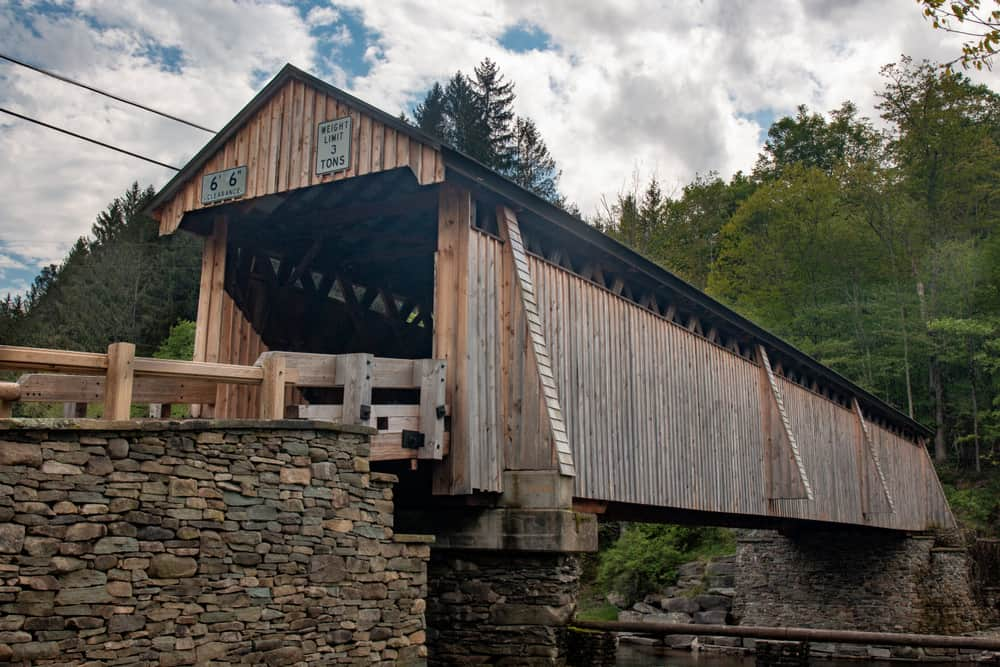 Beaverkill Covered Bridge in Sullivan County, New York