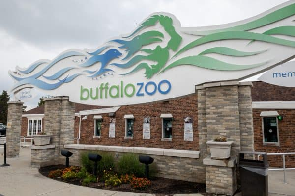 Entrance to the Buffalo Zoo in Buffalo New York