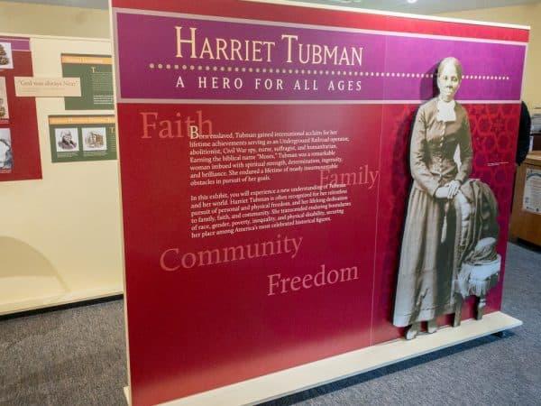 Inside the Harriet Tubman National Historical Park in Auburn, New York