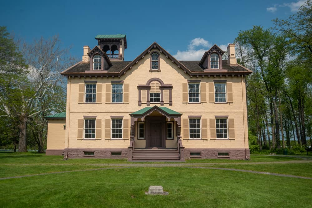 Lindenwald at the Martin Van Buren National Historic Site in Kinderhook, New York