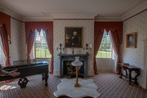 Parlor in Lindenwald in Kinderhook, New York