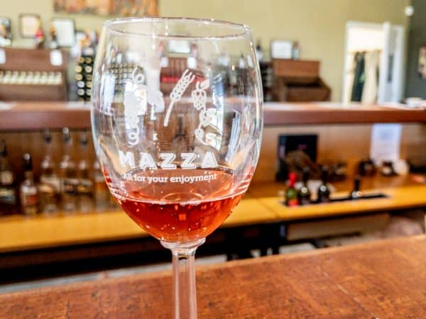 Wine from Mazza Chautauqua Cellars in Westfield, New York