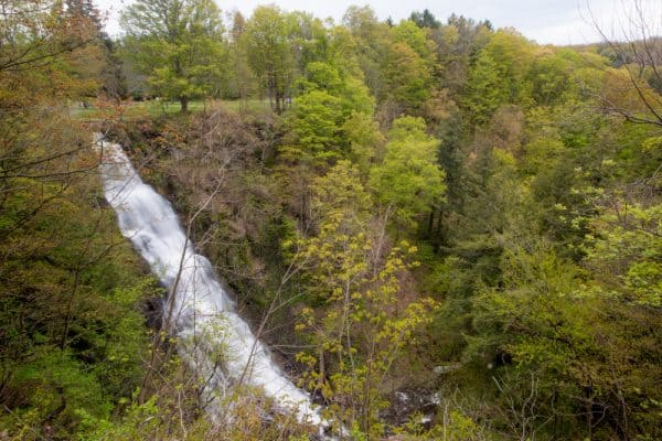 Pratts Falls in Onondaga County from above