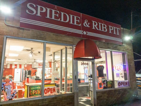Outside Spiedie and Rib Pit in Vestal, New York.