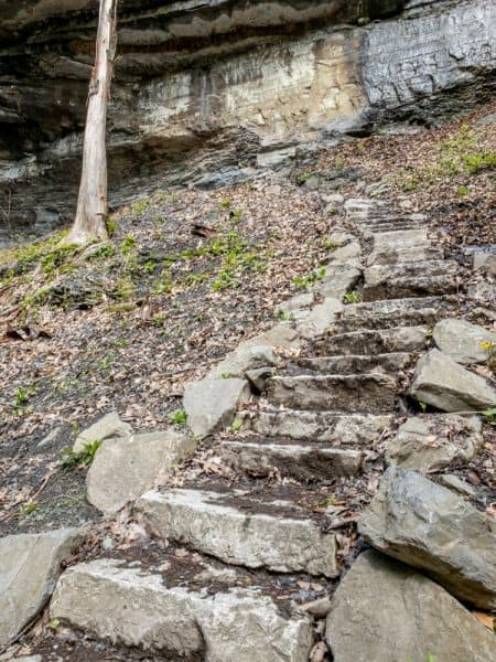 Stone Stairs on the Tinkers Falls Trail near Syracuse, NY