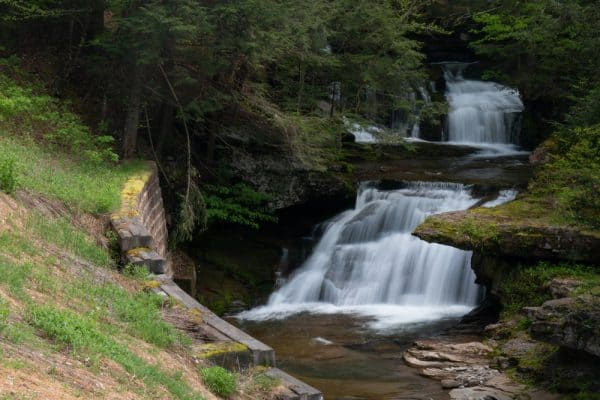 Tompkins Falls in Delaware Wild Forest in the Catskills of New York