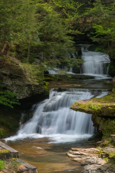 Tompkins Falls in the Catskills of New York