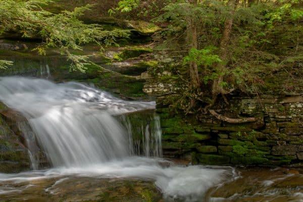 Ruins at Tompkins Falls in the Catskills of New York