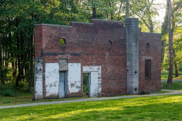 Abandoned building at the West Point Foundry Preserve in New York