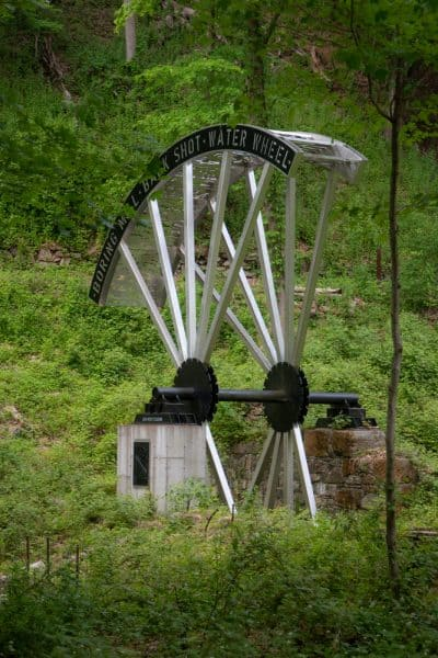 Water Wheel at the West Point Foundry in Putnam County New York