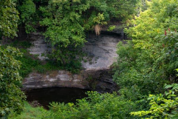 Wolcott Falls in New York in the summer