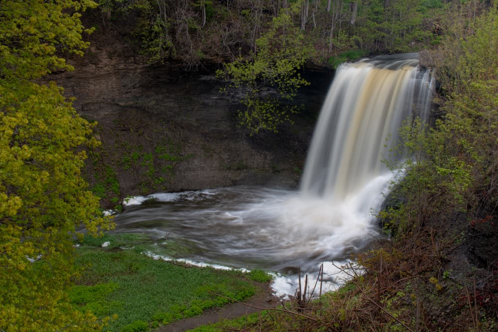 Wolcott Falls Park in Wayne County New York