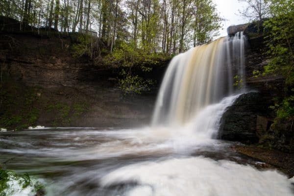 Wolcott Falls in the Finger Lakes of New York