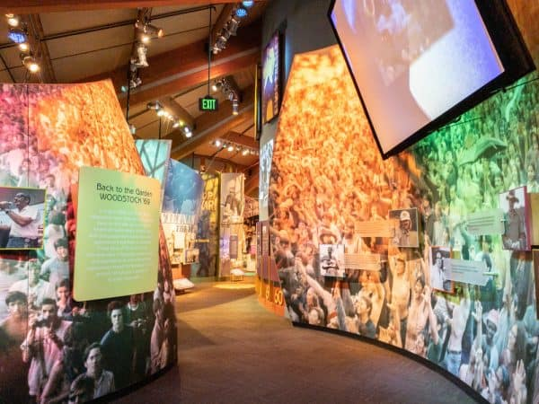 Inside the Woodstock Museum at Bethel Woods in New York