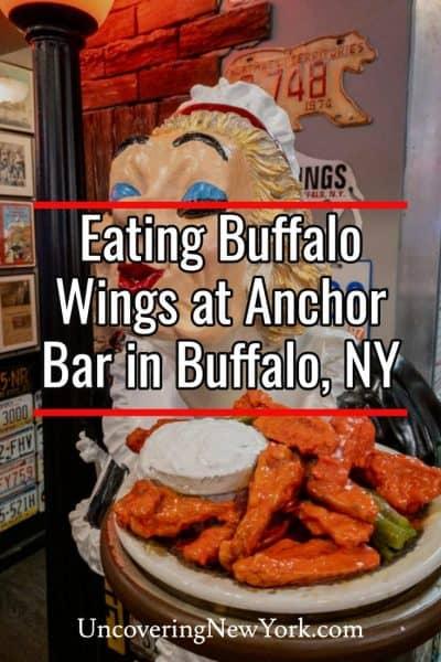 Trying the original Buffalo wings at Anchor Bar in Buffalo, New York