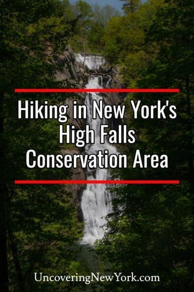 Hiking at the High Falls Conservation Area in Philmont, New York