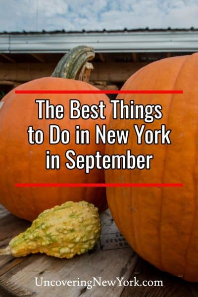 There are a lot of fun things to do in New York in September