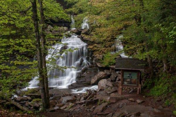 Bastion Falls on the Kaaterskill Falls Trail in the Catskills