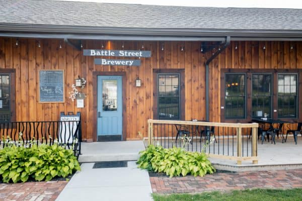 Exterior of Battle Street Brewery in Dansville, New York