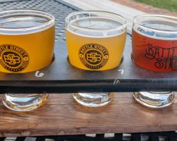 Tasting the Brews at Battle Street Brewery in Dansville, NY